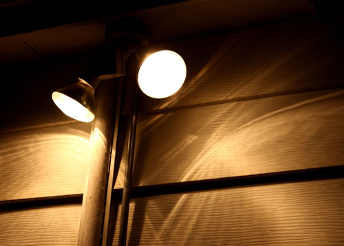 Security Lights at Night
