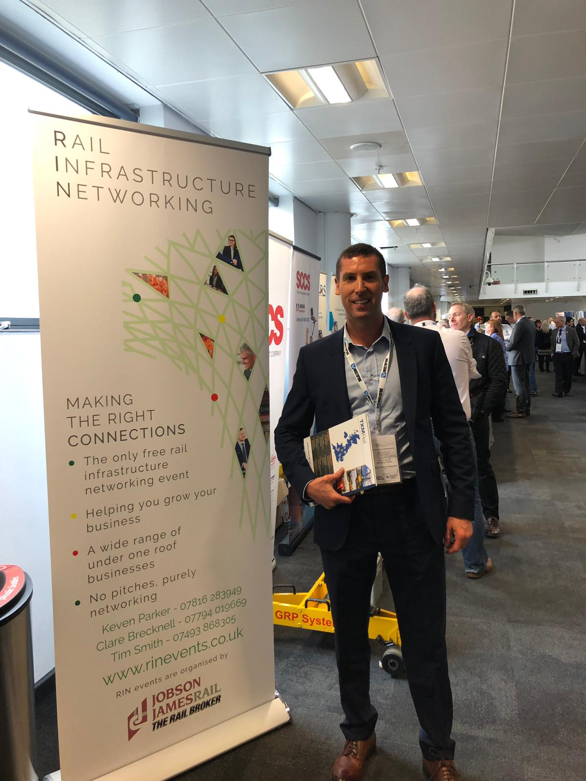 Alan Lingwood at the Rail Infrastructure Networking event
