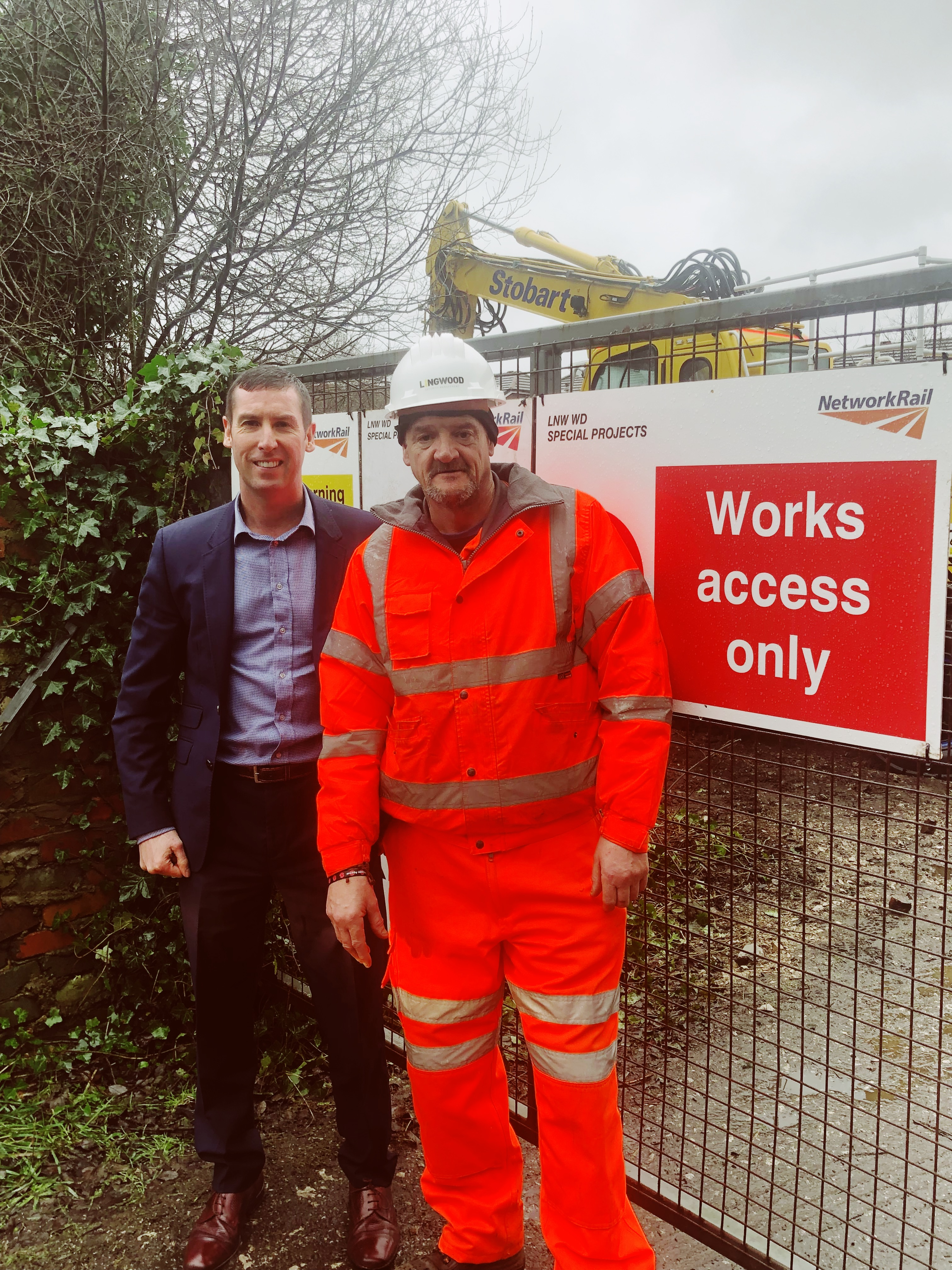 Alan Lingwood carrying out a site visit on a Network Rail project