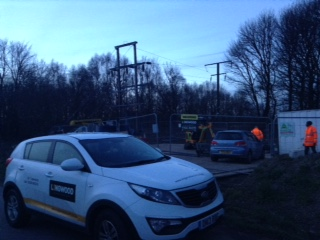 Company vehicle on site for Balfour Beatty