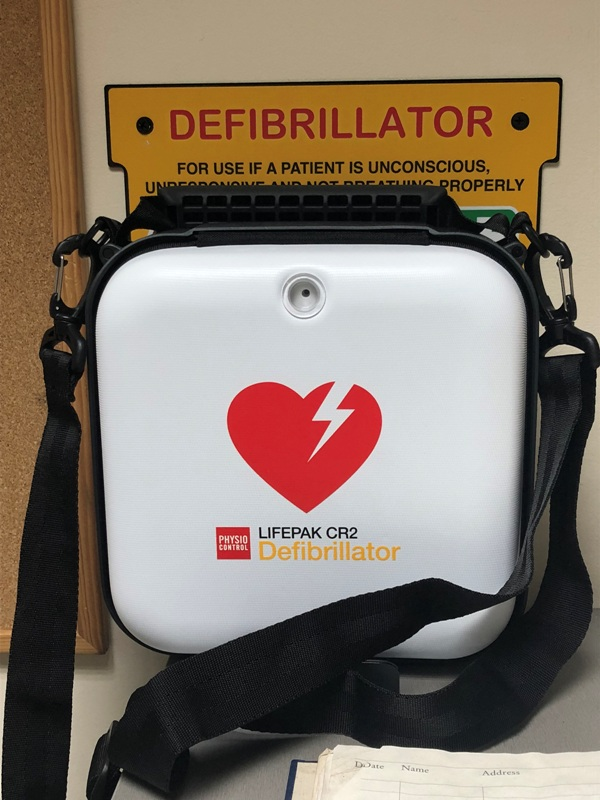 Defibrillator at Lingwood Security Management
