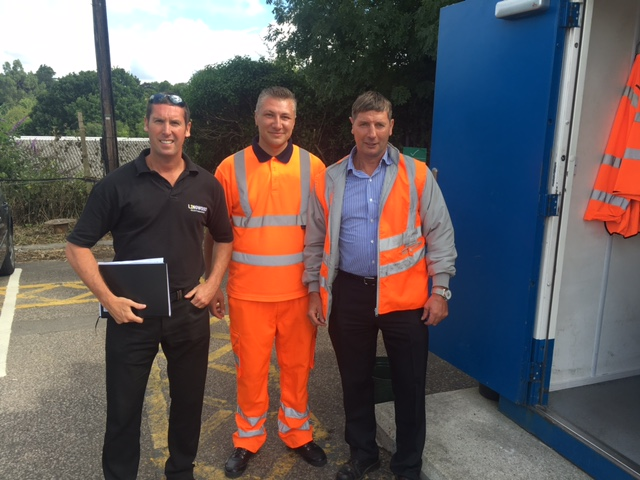 Adrian Ianuc (middle) with directors Alan Jnr (left) and Alan Snr (right)