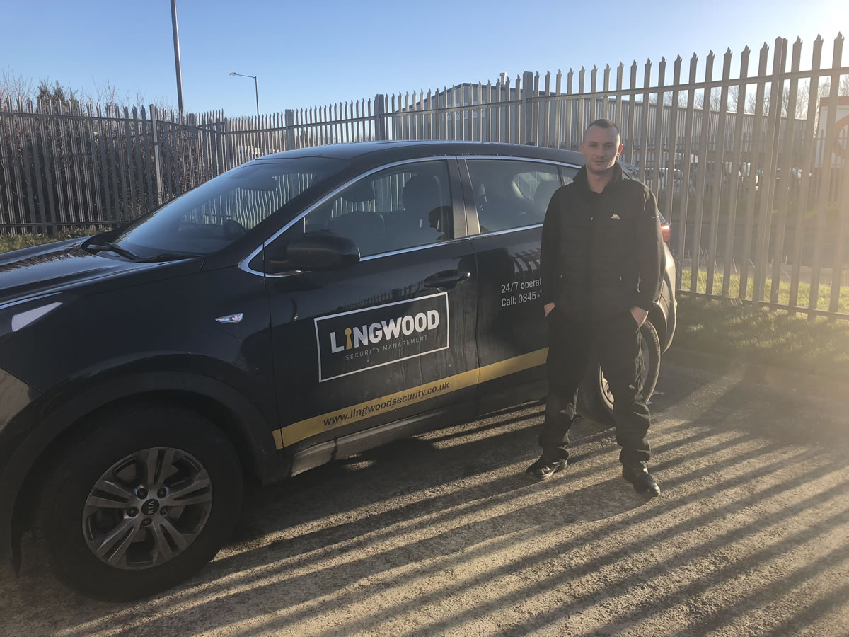 Brandon Graham at Lingwood Security following his promotion